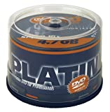 Platinum 4,7 GB DVD-R DVD-Rohlinge (16x Speed) 50er Spindel