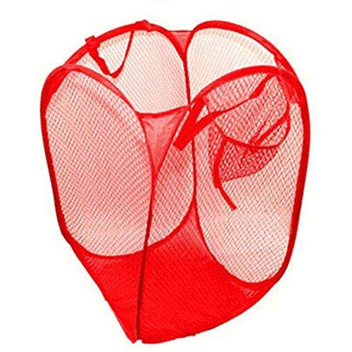 SUCES Faltbare Pop Up Wäsche Wäschekorb Tasche Hamper Mesh Storage Wäschekorb Wäschesammler Mesh Design Faltbar Wäschesack Wäschebox Wäschehalter Zum Waschen von Kleidung (F)