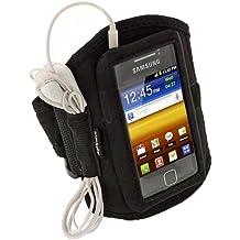 igadgitz Schwarz Armband Sportarmband für Samsung Galaxy Y S5360Android Smartphone Jogging