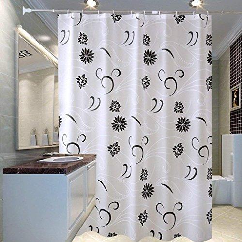 WYFCC Badezimmer Duschvorhang Dicken Vorhang Erru schwarzes Muster warm und wasserdicht zu Halten, um Den Test der ildewproof WC Partition (wasserdicht Größe: 200 cm * 200 cm)