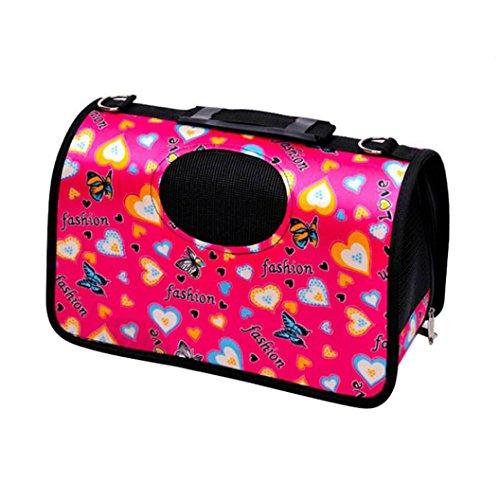 Neue Portable Hund Katze Weiche Tragetasche Haus Kennel Pet Travel Bag Medium Hot Pink -