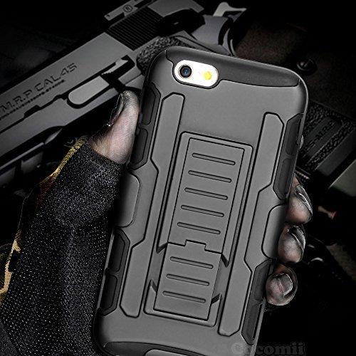 iPhone 6S Plus / iPhone 6 Plus Carcasa, Cocomii® [HEAVY DUTY] iPhone 6S Plus / iPhone 6 Plus Robot Case **NUEVO** [ULTRA FUTURO ARMOR] Premium Funda Con Clip Para Cinturón Pata De Cabra Kickstand Bumper Case [DEFENSOR MILITAR] De Todo El Cuerpo Híbrido Doble Capa Resistente Cubierta Protectora Cover Bumper Case [COCOMII GARANTÍA] ::: La Mejor Protección Frente A Caídas Y Las Repercusiones De Su Apple iPhone 6S Plus / iPhone 6 Plus ::: ★★★★★ (Black/Black)