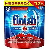 Finish Calgonit Plus, tablettes lave-vaisselle, Mega Pack, 72tout en 1tablettes
