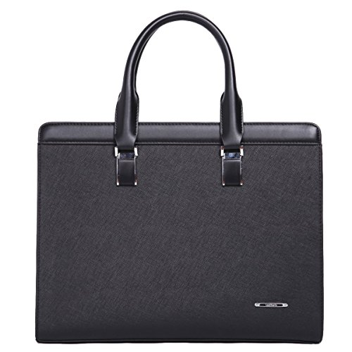 Leathario sac porte document sac serviette luxueux cuir...