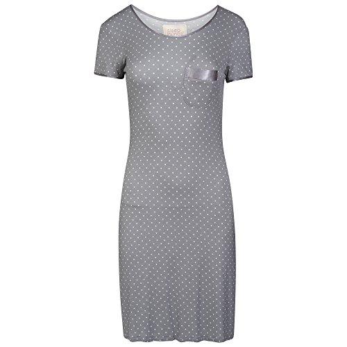 Ladies Short Sleeved Soft Jersey Nightshirt. Grey, Green or Navy. Sizes 8 10 12 14 16 18 20 22