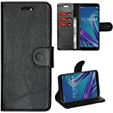 Zaoma Diary Wallet Type Pu Leather Flip Case Cover for Asus Zenfone Max Pro M1 - Leatherette Black