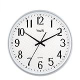 SXWY Stille Wanduhr 14-Zoll-Tickless Quarz Dekorative Uhr, 001