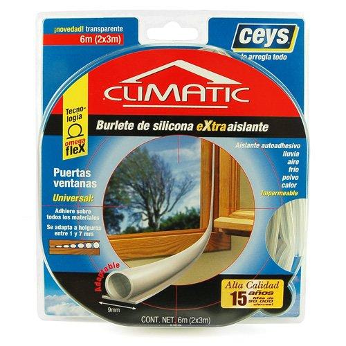 ceys-climatic-selbstklebender-dichtungsstreifen-2-x-3-m-transparent