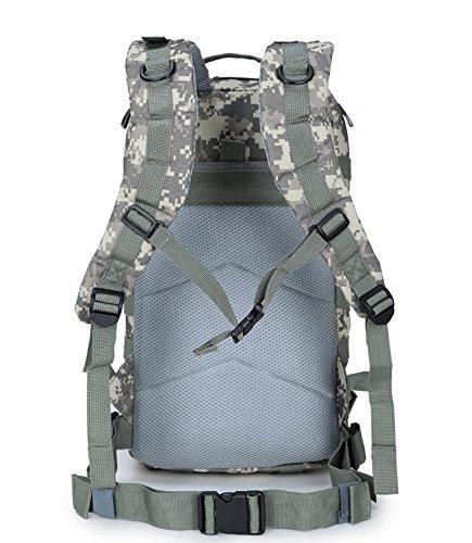 super-bab tattico zaino da trekking sport borsa da viaggio zaino campeggio trekking, mimetico, Black 03