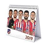 Grupo Erik Editores CS19023 - Calendario de sobremesa 2019 Atlético de Madrid, 17 x 20 cm
