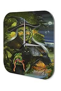 Fantasy Horloge murale Gothic Sorcière Night Fairies Imprimee Plexiglas