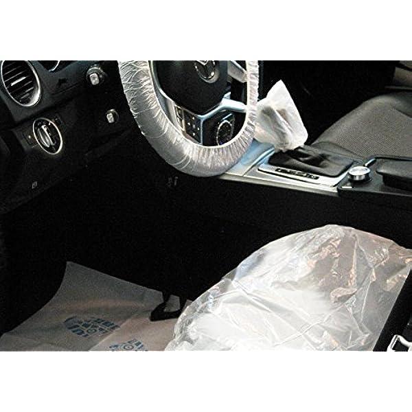 10x Einweg Sitzschoner Set 5 Tlg Sitz Lenkrad Fußraum Schalthebel Handbremsenschoner Profiware Von Md Auto