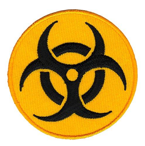 Biohazard Warnzeichen Aufnäher Bügelbild