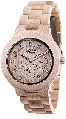 Green Time Unisex-Armbanduhr Analog Quarz Holz ZW025 B
