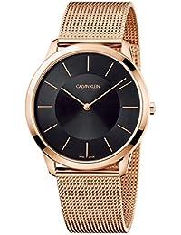 esCalvin Hombre Amazon Relojes Dorado Klein De Pulsera VUMSzqpG