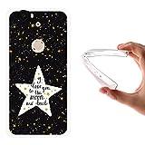 WoowCase Funda Nexus 6P, [Nexus 6P ] Funda Silicona Gel Flexible Estrellas Frase - I Love You To The Moon and Back, Carcasa Case TPU Silicona - Transparente