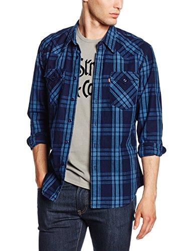 levis-mens-barstow-western-regular-fit-casual-shirt-multicoloured-c32391-galingale-indigo-plaid-mt-p