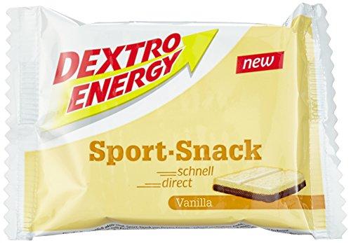 Dextro Energy Sport Snack Vanilla / Leckerer fettarmer Vanille-Riegel mit Proteinen & Kohlenhydraten für Ausdauer-, Leistungs- & Kraft-Sportler / 20 Riegel (20 x 40g)