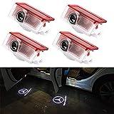 lumière de logo de voiture, notens 4 pack led voiture projecteur logo de porte de voiture ghost shadow lampe