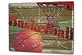 Leotie GmbH Blechschild XXL Nostalgie Basketball Korb