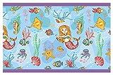 dekodino Kinderzimmer Bordüre Borte Unterwasserwelt Meerjungfrau selbstklebend