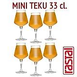 RASTAL - No. 6 vasos MINI TEKU 3,0 - capacidad: 33 cl - universal de degustación Goblet BEER Artisan -