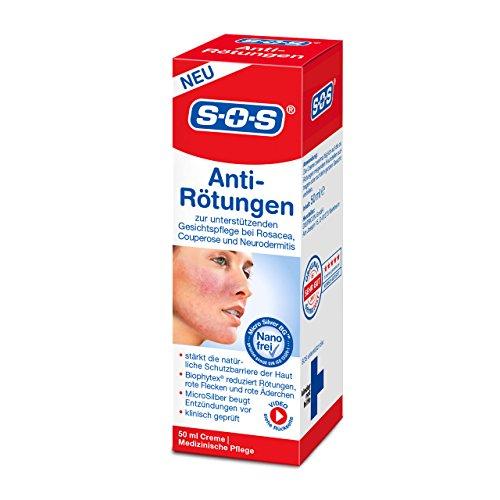 SOS Anti-Rötungen - Medizinische Gesichtspflege bei Rosacea, Couperose und Neurodermitis | Mit MicroSilber, Panthenol und Biophytex |...