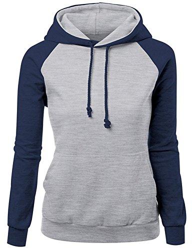 Damen nehmen Kapuzenpullover Sweatshirt Pullover langärmelige Baumwollnormallack mit Kapuze Strickjacke Kapuzenpullover langärmeligen Streetwear - 6 Farben 32-40