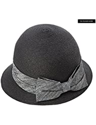 LWT-sombrero de paja hembra verano pequeño sombrero de playa fresca anti-ultravioleta plegable sol plegable sombrero sombrero de sol sombrero de protección UV luz plegable plegable tapa ajustable