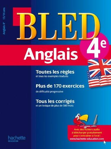 Cahier Bled - Anglais 4ème - 13-14 ans par Collectif