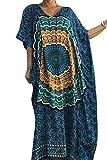 bafdc6b20f83 Vestito Lungo Fiori Donna Estivo Moda Abito Etnico Elegante Boho Hippie  Tunica da Spiaggia Caftano Africano