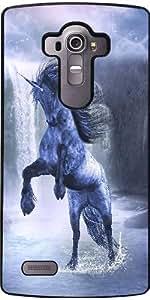Coque pour LG G4 - Bleu 1 Licorne