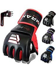 Emrah Maya Cacher cuir Combat Gants MMA UFC T-shirt Motif cage Fighting Sparring Gant Formation F7 W