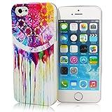 GrandEver Mode TPU Weich Handy Hülle für Apple iPhone 5/5S, Lieben Handy-Tasche für iPhone 5/5S, Farbe TPU Silikon Phone Holster für iPhone 5/5S (Bunte Campanula)