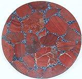 Rajasthan gems Handgefertigt Semi Precious rot Jasper Stein rund Couchtisch Top Home Dekorative