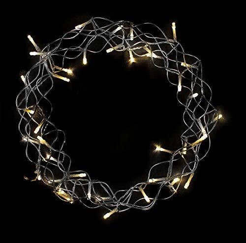 Spetebo Metallkranz Ø 30 cm zum hängen - 40 LED - LED Kranz mit Timer - Türkranz Weihnachtsdeko Fensterdeko Weihnachten Tischkranz