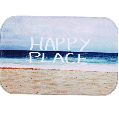 O-C Beach Sea Outdoor Indoor Antiskid Absorbent Bedroom Livingroom Bath Mat Bathroom Shower Rugs Doormats