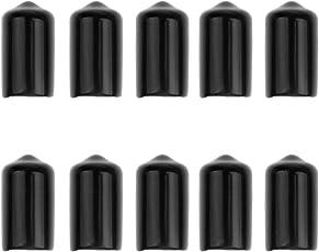 MagiDeal 10 Stück Schutzkappe für Kickerstangen - Billard Queue Leder Gummi Schutzkappe
