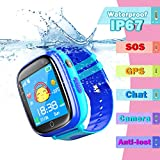 Bhdlovely Kinder SmartWatch Phone Digital Camera Watch with Games, Taschenlampe and 1.44 inch Touch LCD for Boys Girls Birthday (Blau)