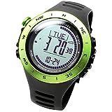 LAD-WEATHER Montre-Multisport Altimètre-Baromètre-Boussole-Thermomètre-Chronomètre Tracker-Activité-Calories-Distance-Vitesse-Pas Randonnée-Escalade-Camping-Fitness-Sports-De-Plein-Air