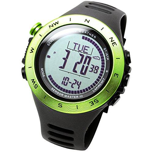 [Lad Wetter] Schweizer Sensor Höhe/Air Druck/Digital Azimut Storm Alarm Schrittzähler Multifunktions-Uhr -