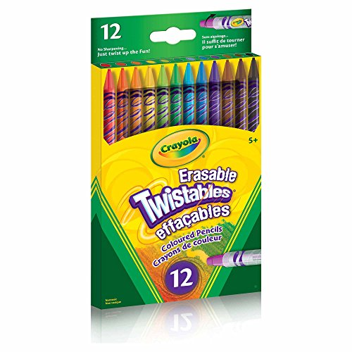 Crayola 12 Erasable Twistables Coloured Pencils