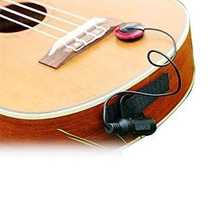 Eapey Pick-up elettronico universale multiuso, per chitarra, ukulele e vari strumenti acustici come chitarra, violino, mandolino e così via