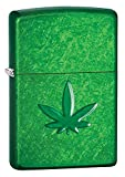 Best BIC Lighter Fluids - Zippo Unisex's Marijuana Leaf, Pipe Windproof Lighter, Meadow Review