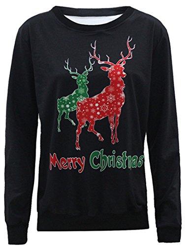 Belsen - Sweat-shirt - Femme Noir Merry Large Merry