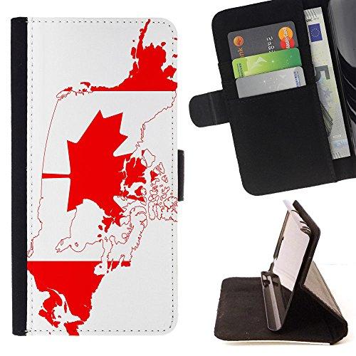 """Graphic4You Vintage Uralt Flagge Von Kanada Kanadier Design Brieftasche Leder Hülle Case Schutzhülle für Apple iPhone 6 Plus / 6S Plus (5.5"""") Design #7"""