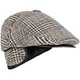 FabSeasons Woolen Self Designed Unisex Golf Cap with Foldable Ear Cover for Winters, can be Used Like a Normal Flat Cap Too