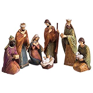 Belén de Navidad Grande de 7 Figuras de Resina de 25 cm – LOLAhome