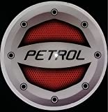 #5: Delhitraderss -Reflective Red Petrol Car Fuel Lid Decal /Sticker Rubber printed(10cm) for - Hyundai I10 Grand