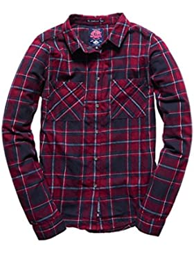 Superdry Damen Hemden New Lumberjack Twill Shirt